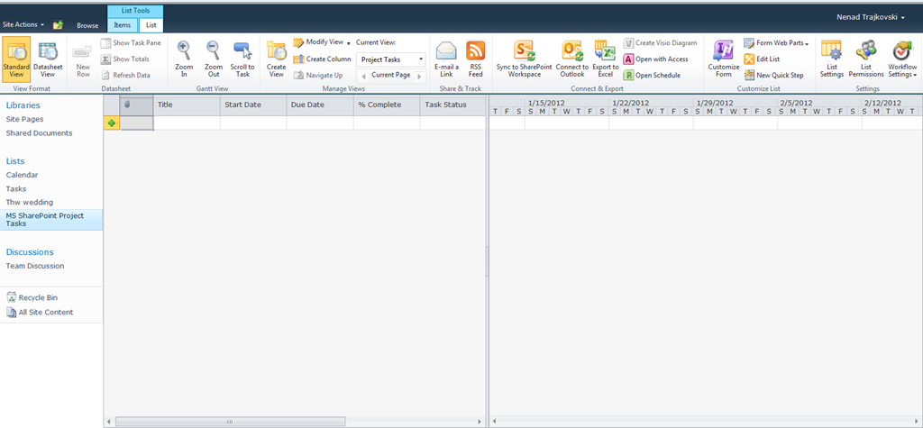 How to Collaborate between MS PROJECT 2010 Professional and